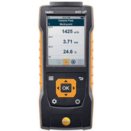 Анемометр Testo 440 dP — Прибор для измерения скорости и оценки качества воздуха в помещении со встроенным сенсором дифференциального давления