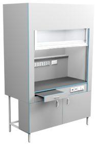 Шкаф вытяжной без сантехники ШВ НВК 1500 ЭПОК (1500x716x2200)