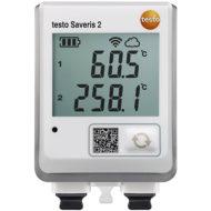 Testo Saveris 2-T3 — WiFi логгер с дисплеем и двумя разъемами для подключения внешних термопар (0572 2033)